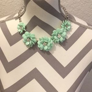Mint green statement necklace.